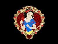 Disney Trading Pin Storybook Princess - Princess Hearts Gold Frame - Snow White