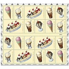 Soda Fountain Favorites USPS Forever First Class Postage Stamp Parties Weddings
