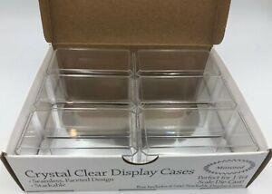 (6)x 1/64 Scale Match Box Diecast Car Display Case w/Mirror Bottom Holders