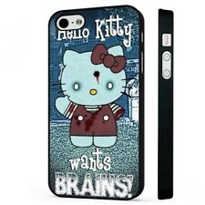 Hello Kitty Funny Zombie Art BLACK PHONE CASE COVER fits iPHONE