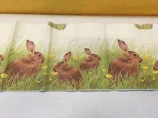 Duni Dunicel papier Nappe 120 x 180 cm ostermotiv County rabbit