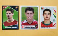 x3 🔥 ULTRA  RARE CRISTIANO RONALDO ROOKIE 🔥 EURO 2004 COF 2005 WC 2006 INVEST