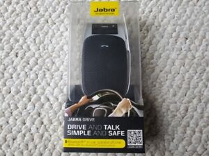 Jabra Drive Bluetooth In-Car Speakerphone for Music and Calls Black BRAND NEW