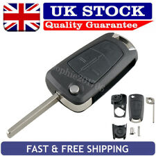 3 Button Flip Key Case Replace Fob For Vauxhall Opel Vectra Corsa Zafira Signum