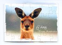 Kangaroo Face Jigsaw Magnet, Image, Fridge Magnet, Souvenir.