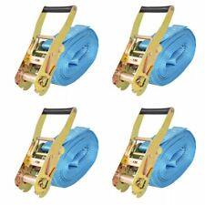 vidaXL 4x Spanband 4 Ton 8 m x 50 mm Blauw Sjorband Spangordel Bagagegordel
