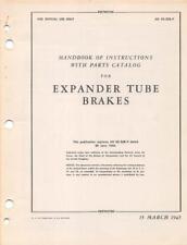 1945 AAF HAYES EXPANDER TUBE BRAKES INSTRUCTION PILOT FLIGHT MANUAL HANDBOOK-CD