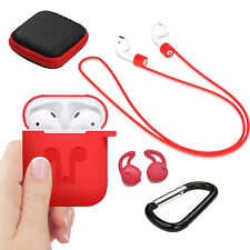 Silicone Cover Skin Case Earphone Anti Lost Strap for Apple Airpods Accessories