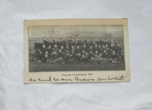 1908 Postcard Private Mailing Card Dartmouth College Football Team RP Real Photo