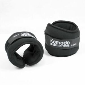 Ankle Wrist Weights Wearable Weighted Wristbands Strap On Set Gym 1kg 2X 0.5kg