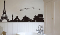 Eiffel Tower Vinyl Home Room Decor Wall Decal Sticker Bedroom Removable Mural 2