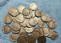 FULL ROLL (40 COINS) FULL HORN BUFFALO NICKELS XF OR BETTER!!