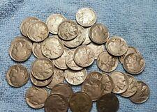 FULL ROLL (40 COINS) FULL HORN BUFFALO NICKELS XF OR BETTER!!