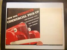 1939 Plymouth commercial pick-up truck original brochure