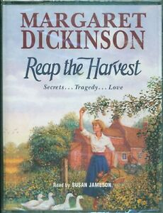 Margaret Dickinson ; Audio Book Cassettes Tapes REAP THE HARVEST (New)