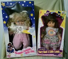 2 VTG LOVEE SINGING DOLLS TWINKLE TWINKLE LITTLE STAR/MARY HAD A LITTLE LAMB