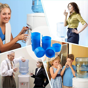 20 Reusable Water Bottle Snap On Cap For 3 And 5 Gallon Lid Jugs No Spill Cover