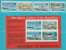 Mauritius from 1993 Mint Michel Number 760-763+ Block 15 Aircraft Helicopter