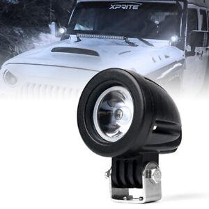 """Xprite 10W 2"""" Inch LED Work Light Pod Spot Beam Truck Off-Road ATV UTV Driving"""