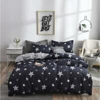 3D Black And White Stars KEP8624 Bed Pillowcases Quilt Duvet Cover Kay