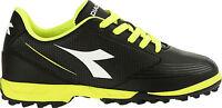 DIADORA 750 IV TF JR scarpe calcetto calcio uomo tacchetti pelle nero giallo