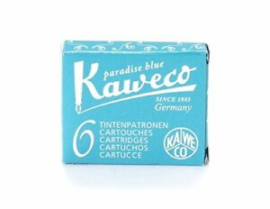 Kaweco Short Turquoise Fountain Pen Ink Cartridge  - Pack of 6 (10000260)