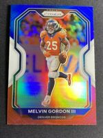 2020 Melvin Gordon III Red White and Blue Silver Refractor Prizm Denver Broncos
