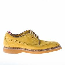 GREEN GEORGE men shoes Lime suede derby brogue wingtip made in Italy