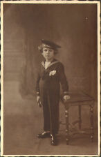 CARTE PHOTO ENFANT UNIFORME DE MARIN