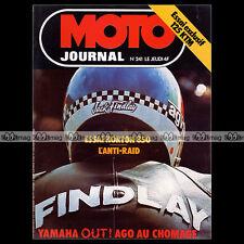 MOTO JOURNAL N°241 YAMAHA TZ 350 JACK FINDLAY PHIL READ NORTON 850 COMMANDO 1975