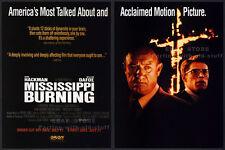 MISSISSIPPI BURNING__Orig. 1989 Trade print AD promo__GENE HACKMAN_WILLEM DAFOE