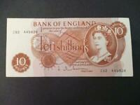 1963 TEN SHILLING NOTE J.Q.HOLLOM, UNCIRCULATED CONDITION DUGGLEBY REF: B294.
