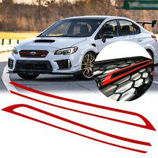 2x Sport Red Grille PinStripe Pre-cut Stickers For Subaru Wrx Sti 2018 2019 2020 (Fits: Subaru)