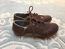 Clarks Originals Latana Oxford Brown Maple Leather Lace Up Shoes Crepe Sole 7
