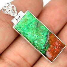Sonora Sunrise Chrysocolla Cuprite Blood 925 Silver Pendant Jewelry SP207412