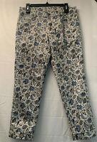 Ann Taylor Loft Women's Multicolor Floral Modern Cuffed Crop Pants Size 28/6