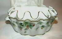 Burton & Burton Bogart, GA  Porcelain Fluted Top Bowl Planter Small Tureen
