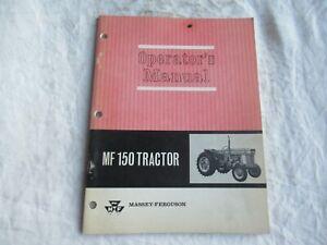 Massey Ferguson MF150 tractor operator's manual factory original