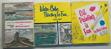 Lot Of 3 VTG Hardcover How To Paint Books Oil-Watercolor-Landscapes-Seascapes