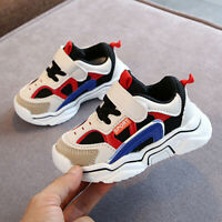Toddler Kids Baby Boy Girl Patchwork Mesh Breathable Casual Sport Shoes Sneakers