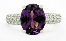 ALEXANDRITE 3.28 Cts & WHITE SAPPHIRES RING .925 Sterling Silver * NWT * Size 7