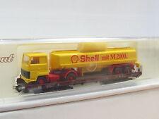 Liliput H0 200 05 Niederflurwagen Saaks m. Ford Tanksattel Shell DB OVP (Q488)