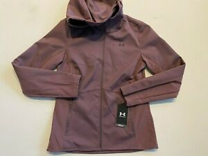 Under Armour Jacket Women's Small New Shield Hooded 1355838 MSRP $120