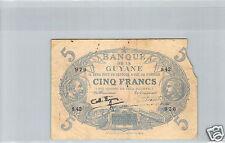 GUYANE SPECIMEN 5 FRANCS LOI 1901 (1942) S.42 N° 970 PICK 1d