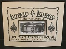 Ludwig & Ludwig Catalog Reprint 1912