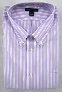 Lands End Dress Shirt Mens 18 36 Tall Non Iron Pinpoint Oxford Button Down NWT