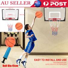 Indoor Mini Basketball Hoop Ring Backboard Kit Door Mounted Mount Kids Set AU