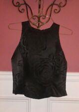 Women's HAMPTON NITES TUXEDO Black Formal Evening Sleeveless TOP SIZE-S