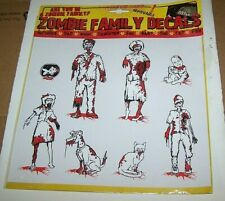 Kalan Zombie Family Car Window Decal Sticker Cling 8 Figure Set Pandemic Family