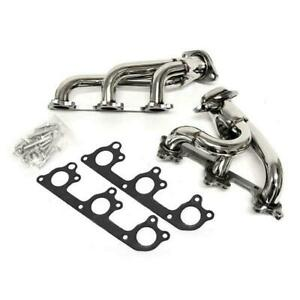 Manzo Stainless Steel Exhaust Header Manifold For 05-10 Ford Mustang S197 V6 4.0